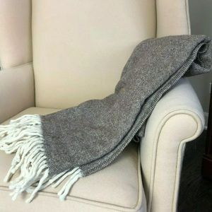 Other - Top Quality 100% Wool Throw Blanket 43x76 Brown